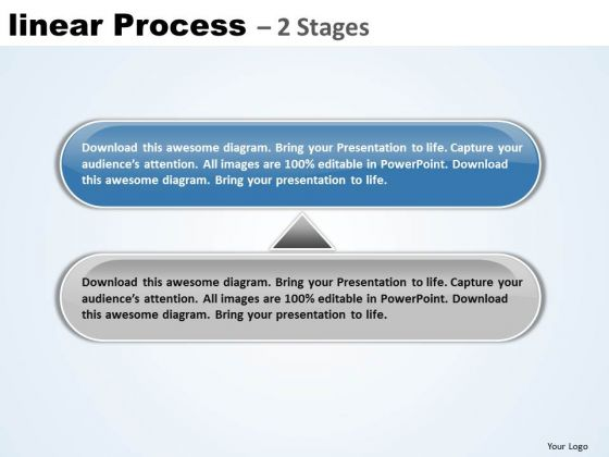 Strategy PowerPoint Template Non Linear Ideas Process 2 Stage Image