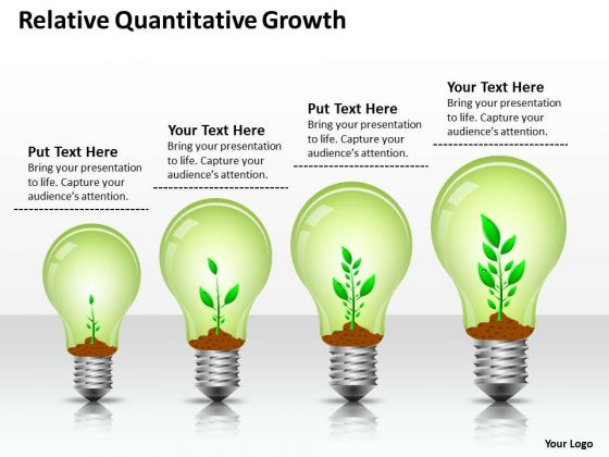 Strategy PowerPoint Template Relative Quantitative Growth Ppt Templates