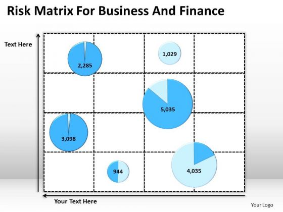 Strategy PowerPoint Template Risk Matrix For Business And Finance Ppt Slides