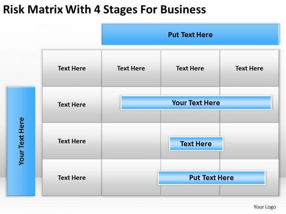 Strategy PowerPoint Template Risk Matrix With 4 Stages For Business Ppt Slides