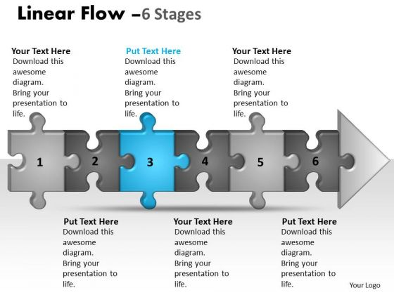 Strategy Ppt Linear Flow 6 Phase Diagram Style1 Communication Skills PowerPoint 4 Design