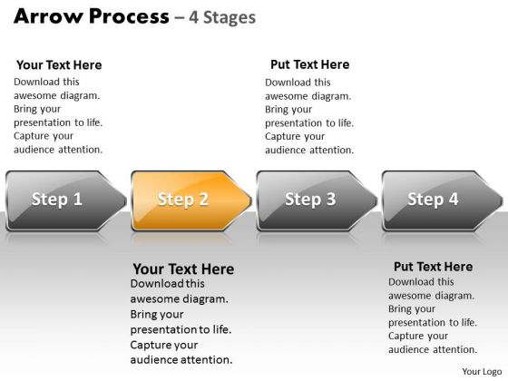 Strategy Ppt Template Arrow Process 4 Stages Style 1 Business PowerPoint 3 Design
