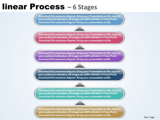 Strategy Ppt Template Linear Process 6 Stages Communication Skills PowerPoint 1 Image