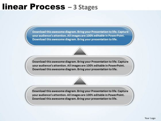 Strategy Ppt Template Non Linear PowerPoint Ideas Process 3 Stages 4 Image