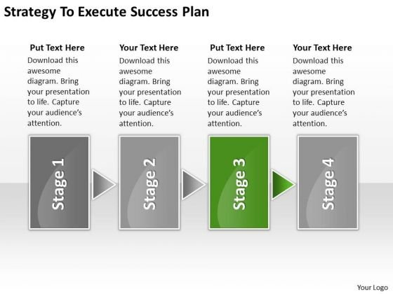 Strategy To Execute Success Plan Business Plans Examples Free PowerPoint Slides