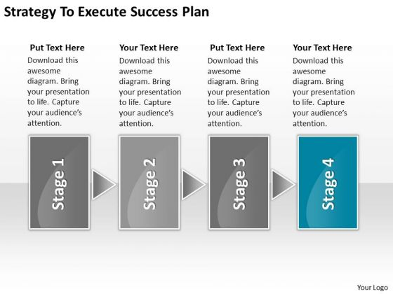Strategy To Execute Success Plan Free Sample Business Plans Templates PowerPoint