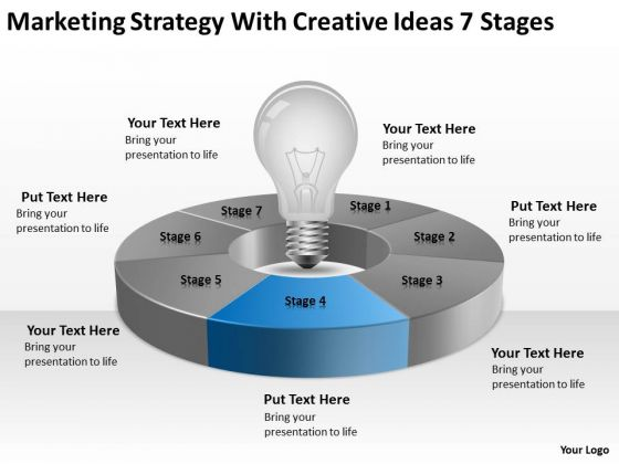 strategy with creative ideas 7 stages business executive summary