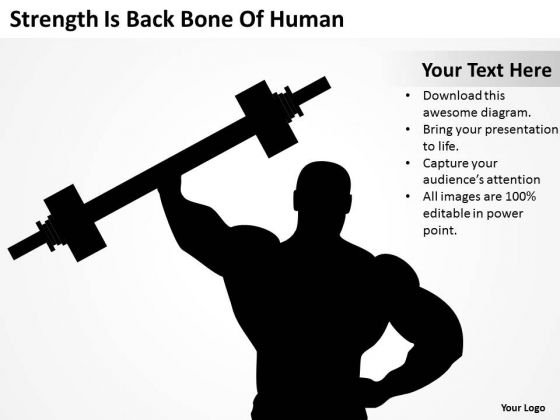 Strength Is Back Bone Of Human Ppt How To Write Business Plan For PowerPoint Templates
