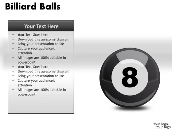 Stripe Billiard Balls PowerPoint Slides And Ppt Diagram Templates
