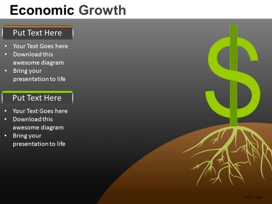 Strong Dollar Growth PowerPoint Slides