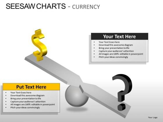 Strong Dollar Seesaw Charts Currency PowerPoint Slides And Ppt Templates