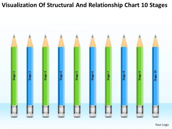 Structural And Relationship Chart 10 Stages Ppt One Page Business Plan PowerPoint Templates