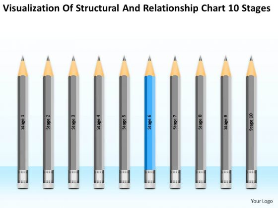 Structural And Relationship Chart 10 Stages Ppt Samples Business Plan PowerPoint Slides