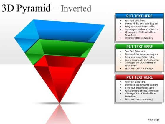 Structure 3d Pyramid Inverted PowerPoint Slides And Ppt Diagram Templates
