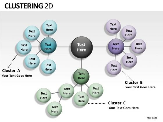 Structure Clustering 2d PowerPoint Slides And Ppt Diagram Templates