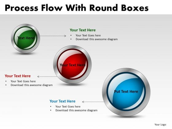 Structure Process Flow With Round Boxes PowerPoint Slides And Ppt Diagram Templates