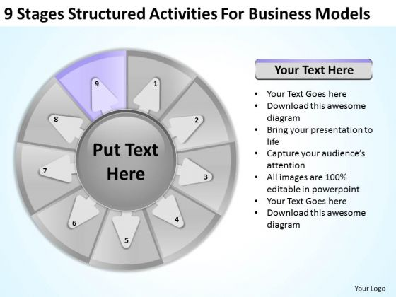 Structured Activities For Business Models Example Of Good Plan PowerPoint Slides