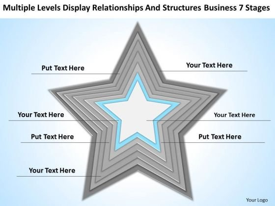 Structures Business 7 Stages Outline For Plan PowerPoint Templates