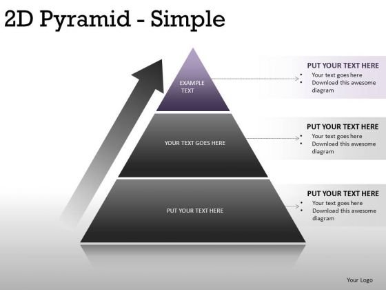Success 2d Pyramid Simple PowerPoint Slides And Ppt Template Diagrams
