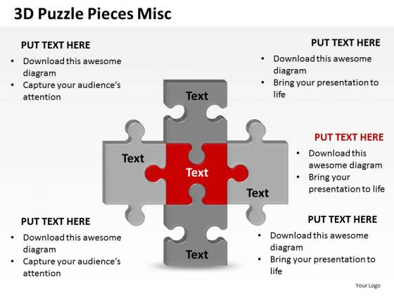 Success 3d Puzzle Pieces Misc PowerPoint Slides And Ppt Diagram Templates