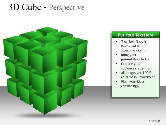 Success Design 3d Cube Perspective PowerPoint Slides And Ppt Diagram Templates