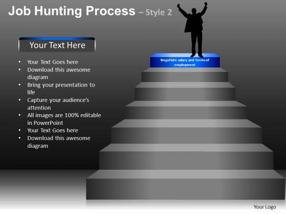 Success In Job Hunting Process PowerPoint Slides And Ppt Diagram Templates