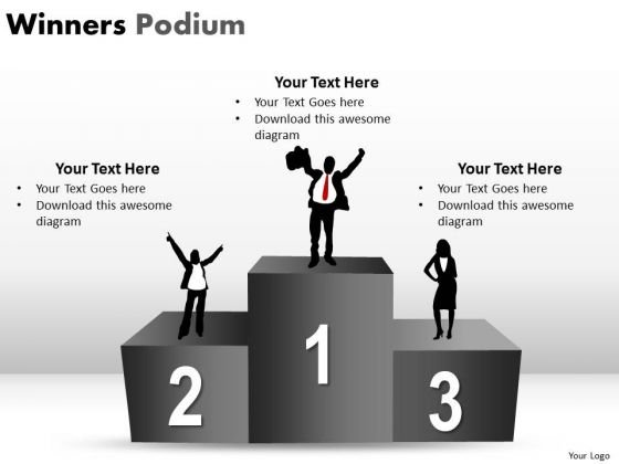 Success People Winners Podium PowerPoint Slides And Ppt Diagram Templates