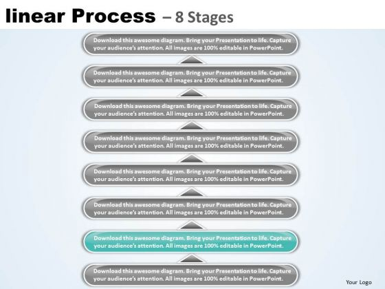 Success PowerPoint Template Linear Process 8 Stages Business Management Business Image