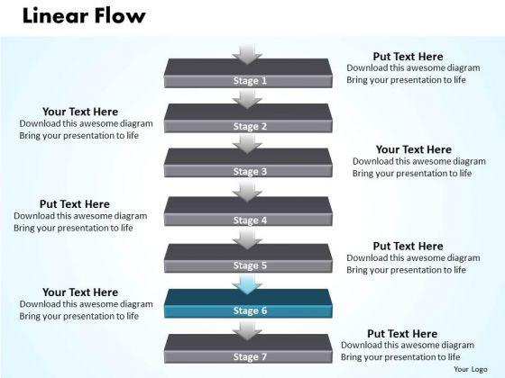Success Ppt Non-linear PowerPoint Flow 7 Stages Time Management Design