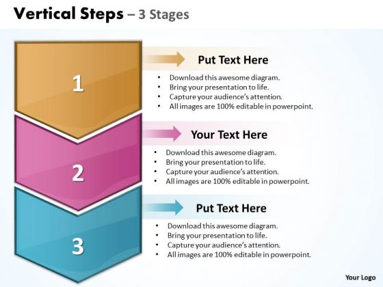 Success Ppt Template Vertical Steps 3 1 Communication Skills PowerPoint Design