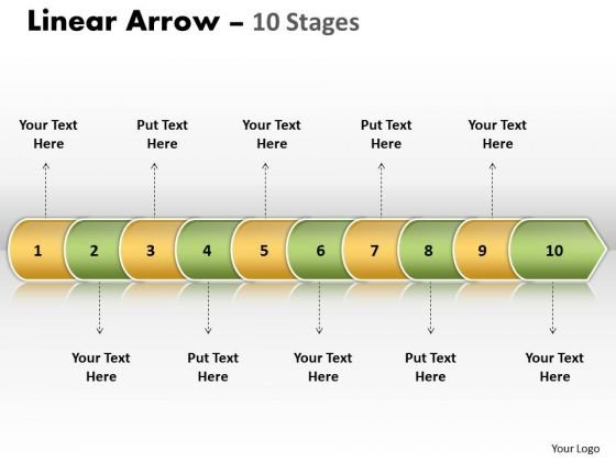 Success Ppt Theme Linear Arrow 10 Stages Business Plan PowerPoint Graphic