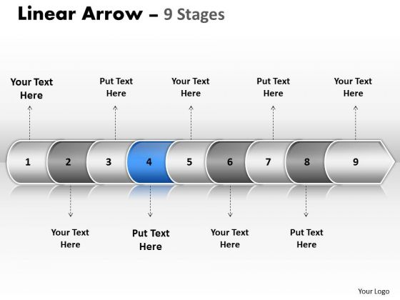 Success Ppt Theme Linear Arrow 9 Power Point Stage Time Management PowerPoint 5 Graphic