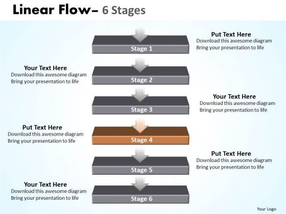 Success Ppt Theme Linear Flow 6 Stages1 Business Management PowerPoint 5 Image