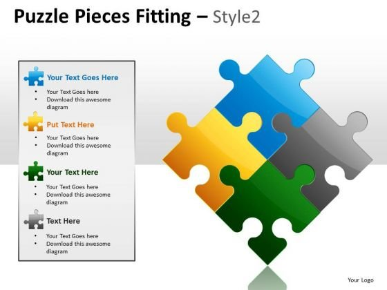 Success Puzzle Pieces Fitting PowerPoint Slides And Ppt Diagram Templates