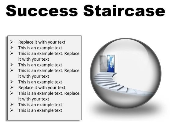 Success Staircase Business PowerPoint Presentation Slides C
