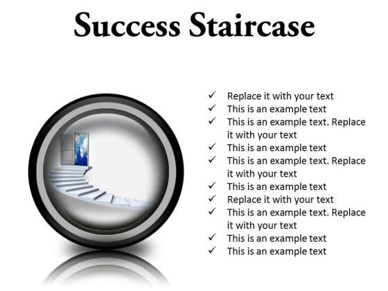 Success Staircase Business PowerPoint Presentation Slides Cc