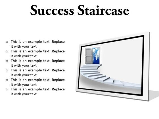Success Staircase Business PowerPoint Presentation Slides F