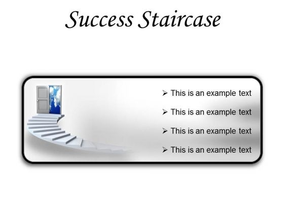 Success Staircase Business PowerPoint Presentation Slides R