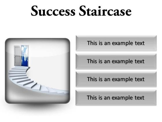 Success Staircase Business PowerPoint Presentation Slides S