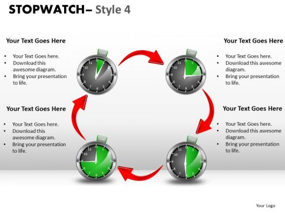 Success Stopwatch 4 PowerPoint Slides And Ppt Diagram Templates
