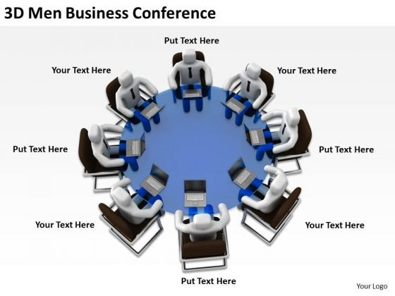 Successful Business Men 3d PowerPoint Presentations Conference Slides