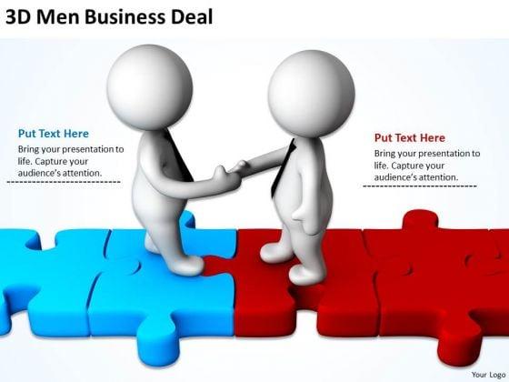 Successful Business Men 3d PowerPoint Presentations Deal Slides