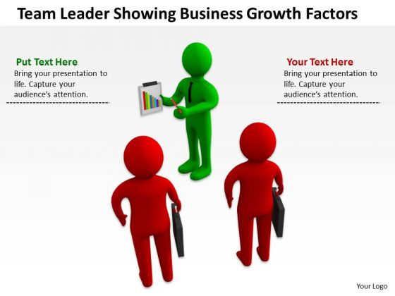 Successful Business Men Leader Showing PowerPoint Theme Growth Factors Slides