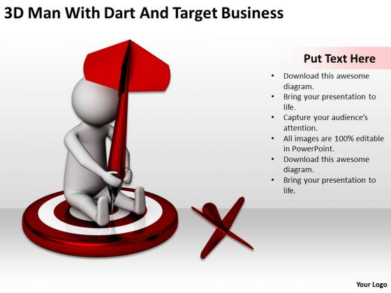 Successful Business Men With Dart And Target PowerPoint Presentation Slides