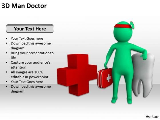 Successful Business People 3d Man Doctor PowerPoint Templates Ppt Backgrounds For Slides