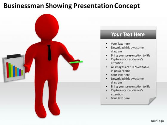 Successful Business People Businessman-showing Presentation Concept PowerPoint Templates