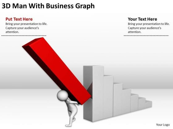 Successful Business People Man With New PowerPoint Presentation Graph Templates