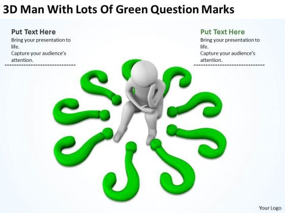 Successful Business People Of Green Question Marks PowerPoint Templates Ppt Backgrounds For Slides