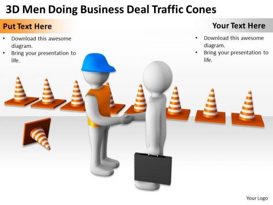 Successful Business People World PowerPoint Templates Deal Traffic Cones Slides