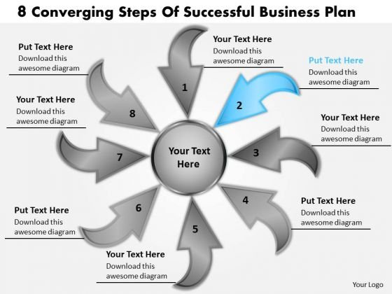 Successful Business PowerPoint Theme Plan Circular Flow Motion Process Templates